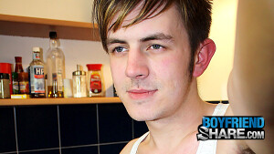 Gay Boyfriend : Inked Zacharry Star Jerks Out sperm - Boyfriendshare!