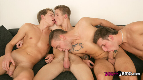 Horny Guys Enjoy Sucking Nailing