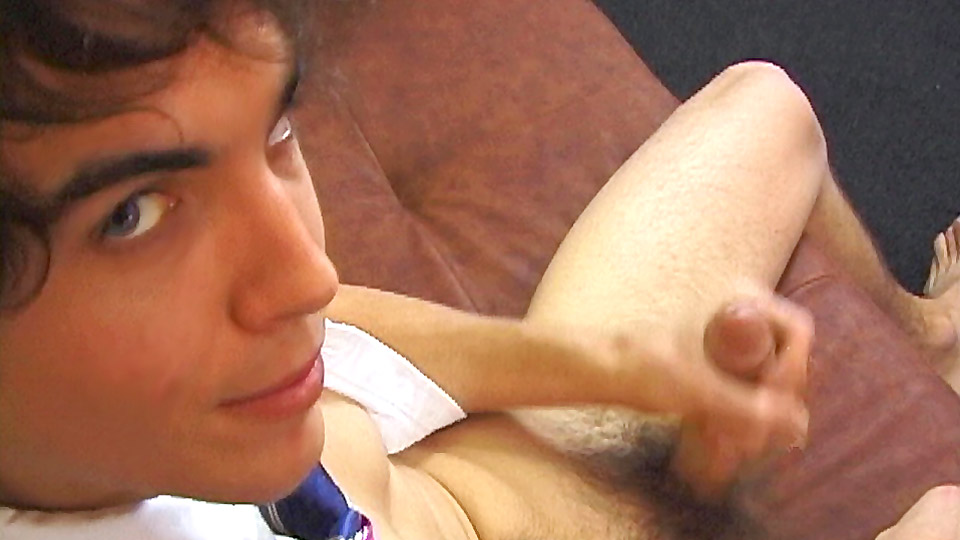 Horny schoolboy logan spanks it
